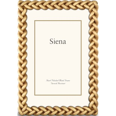 Gold-Tone Braid Design 4X6 Photo Frame Designer Jewelry by Sweet Pea