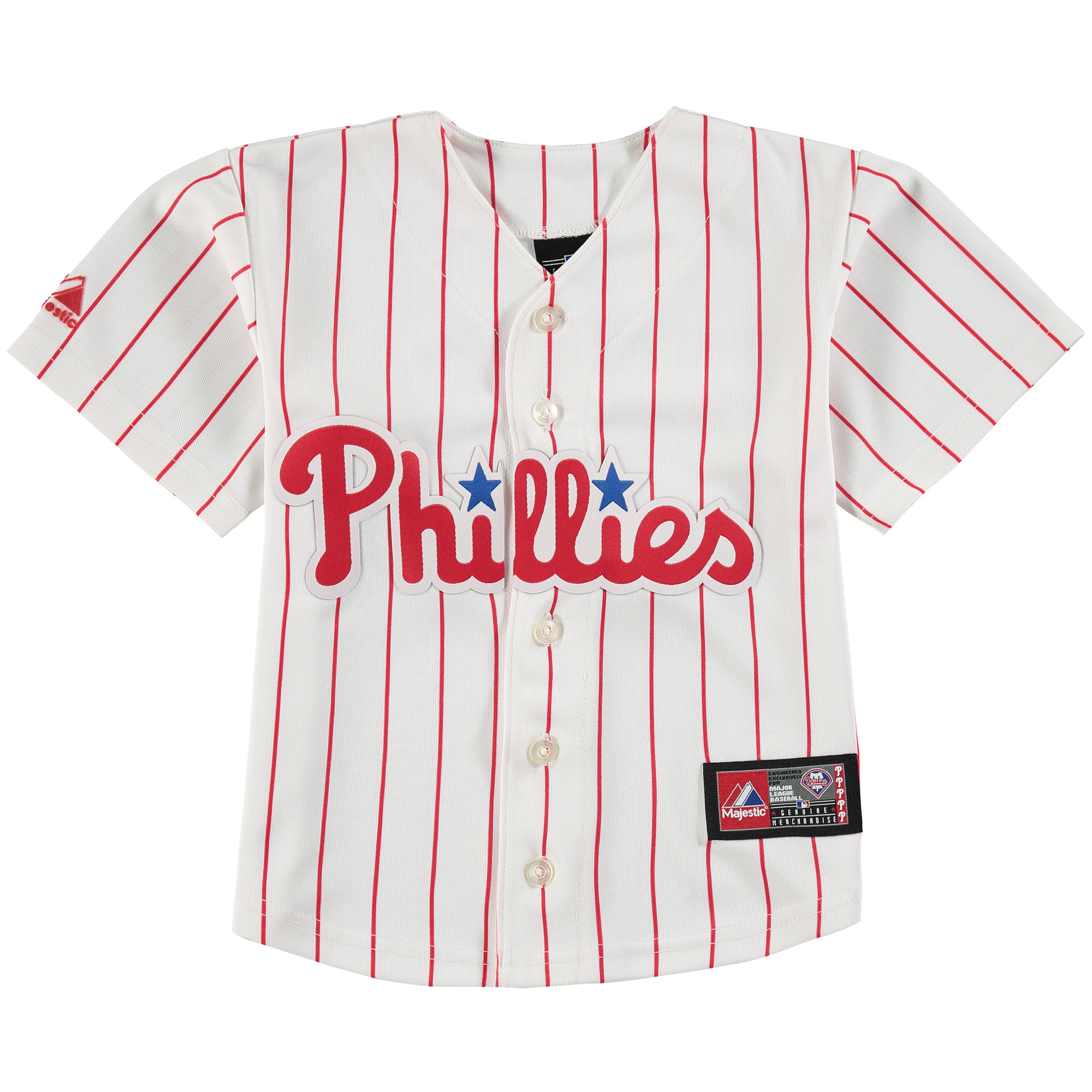 Philadelphia Phillies Majestic Toddler Official Cool Base Jersey - White