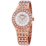Bulova Phantom Rose Gold-tone Baguette Swarovski Crystal Ladies Watch 98L268