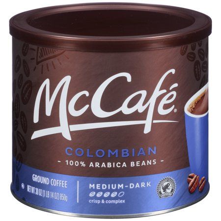 McCafe Colombian Medium-Dark Roast Ground Coffee, 30 oz (850 g)