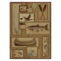 Tayse Nature 6602 Lodge Runner Indoor Area Rug