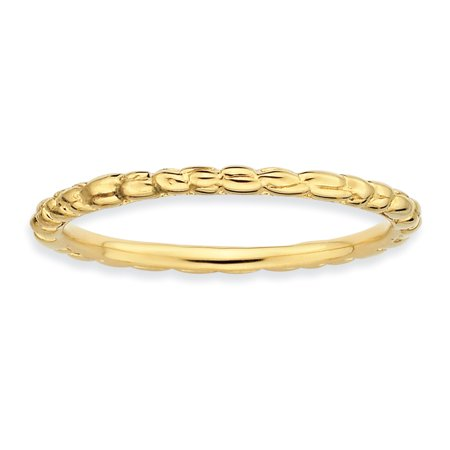 Sterling Silver Stackable Expressions Gold-plated Twisted Ring Size 10 - image 1 de 3