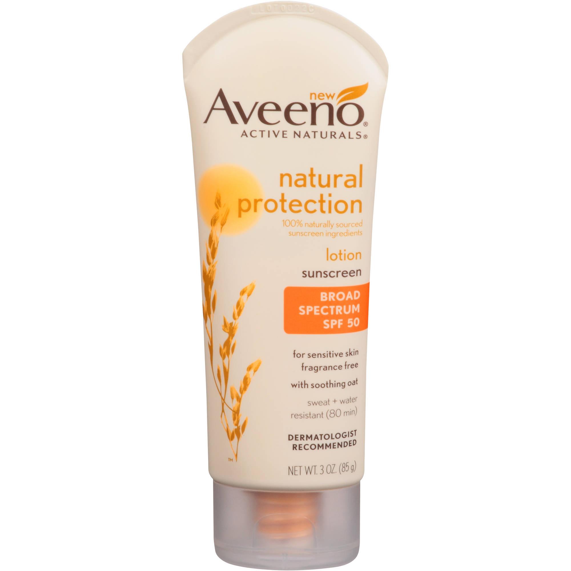 Aveeno Active Naturals Natural Protection Broad Spectrum Sunscreen Lotion, SPF 50, 3 oz