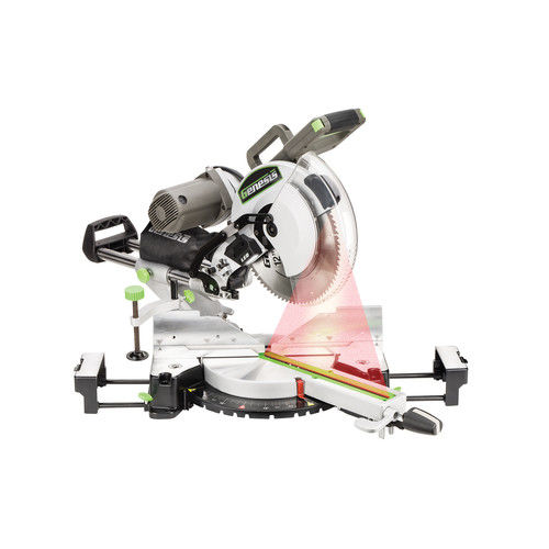 Genesis GMSDB1215LF 15 Amp 12 in. Sliding Compound Miter Saw with Laser by