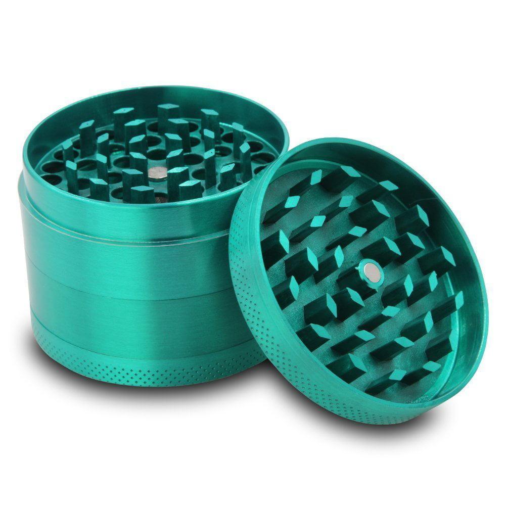 Flash E Sales Metal Herb Grinder with Pollen Sifter & Scraper - 4pc Set