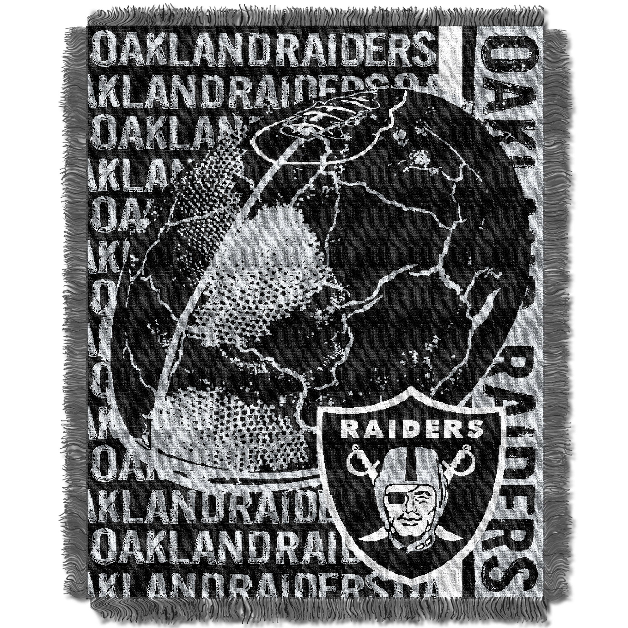 Oakland Raiders The Northwest Company 46'' x 60'' Double Play Jacquard Throw - No Size