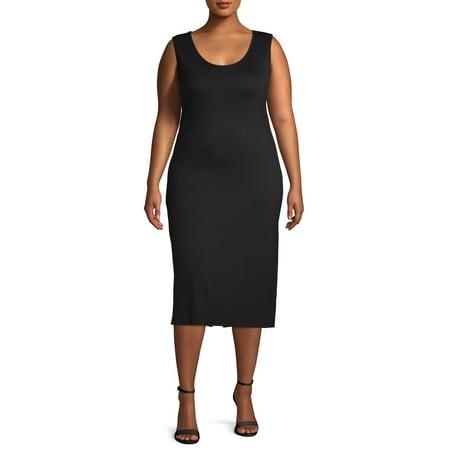 Love Sadie Women's Plus Size Fitted Knit Midi Slip Dress Bcbg Knit Dress