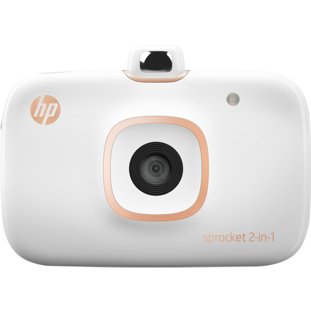 Hp Sprocket 2 In 1, Smartphone Printer And Instant Camera, White by Hp