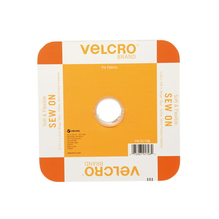 VELCRO? Brand Sew On Soft and Flexible 30ft x 5/8in Roll, Beige (Sew On Velcro)