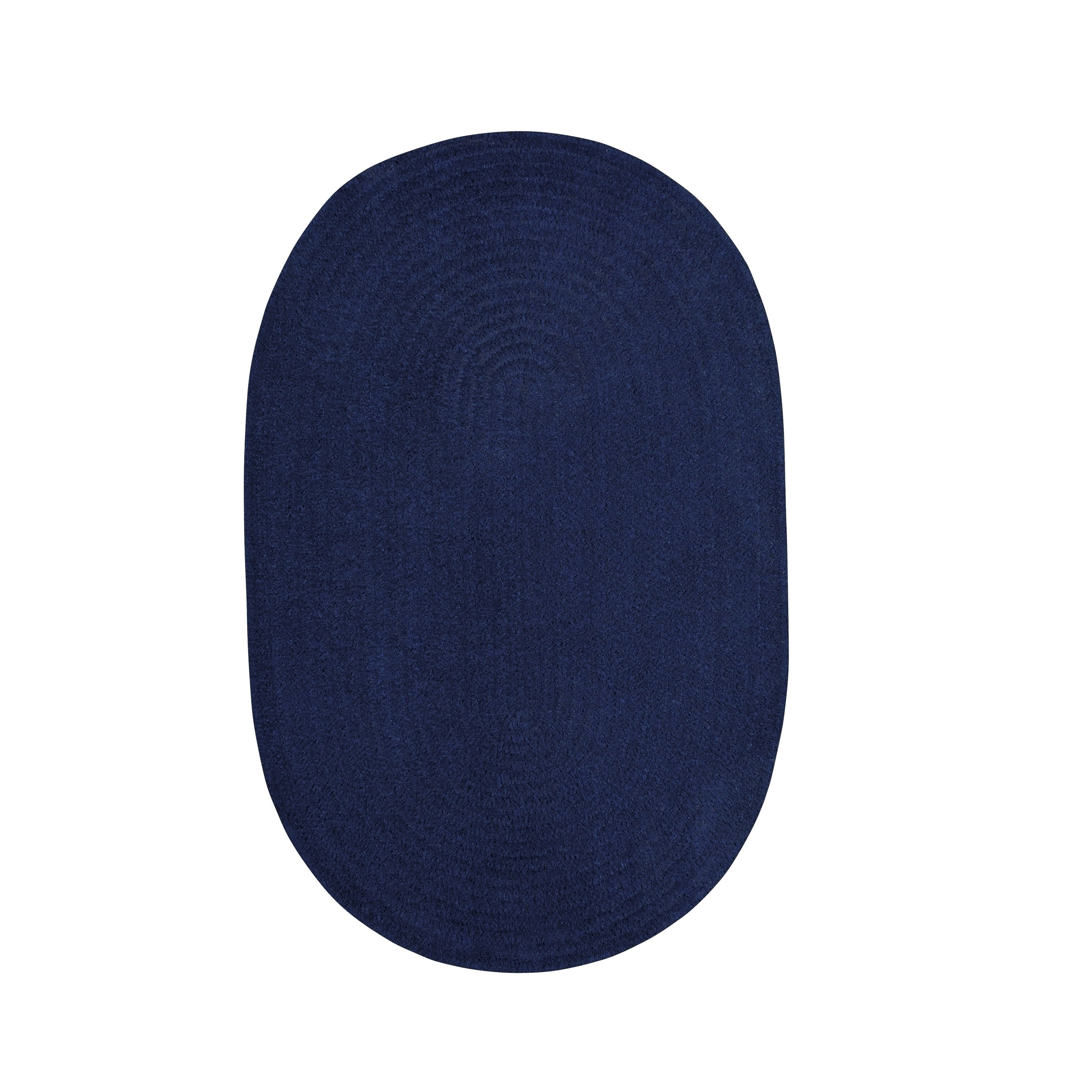Brindille Chenille Oval Made to Order Rug Dark Sapphire (8' x 11')