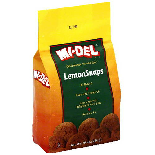 MI-DEL LemonSnaps Cookies 10 oz, (Pack of 12)