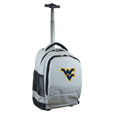 West Virginia Mountaineers 19 Premium Wheeled Backpack - Gray