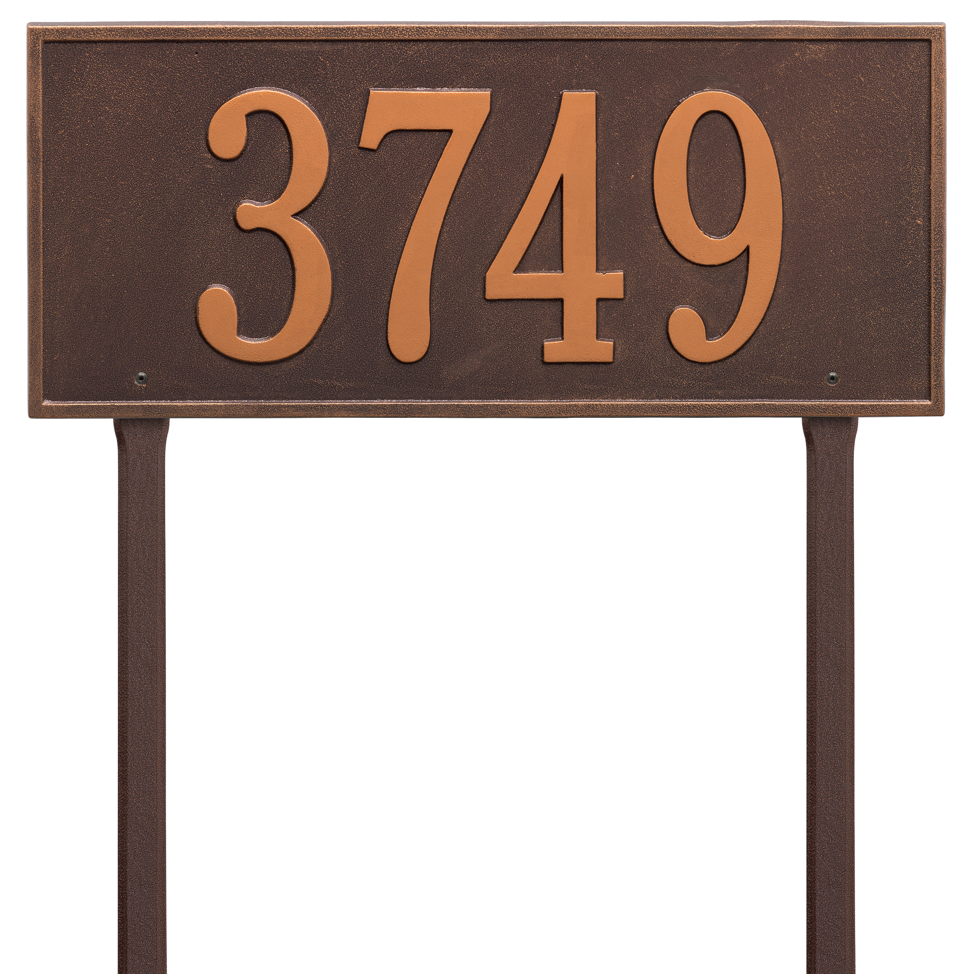 Personalized Whitehall Products Hartford Estate Lawn Address Plaque in Copper