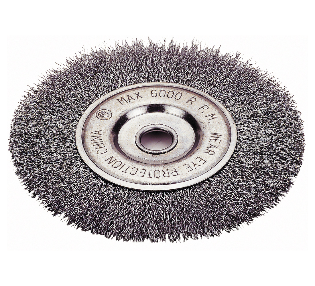 "Wheel Brush 6"" Crimped Wire"