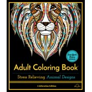 Celebration Edition: Stress Relieving Animal Designs: Adult Coloring Book, Celebration Edition (Paperback)