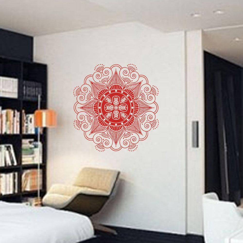 Mandala Flower Indian Bedroom Wall Decal Art Stickers Mural Home Vinyl Family BK