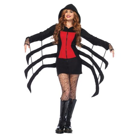 Morris Costumes UA85558SM Spider Black Widow Cozy Adult Costume, Small - Small Black Spider