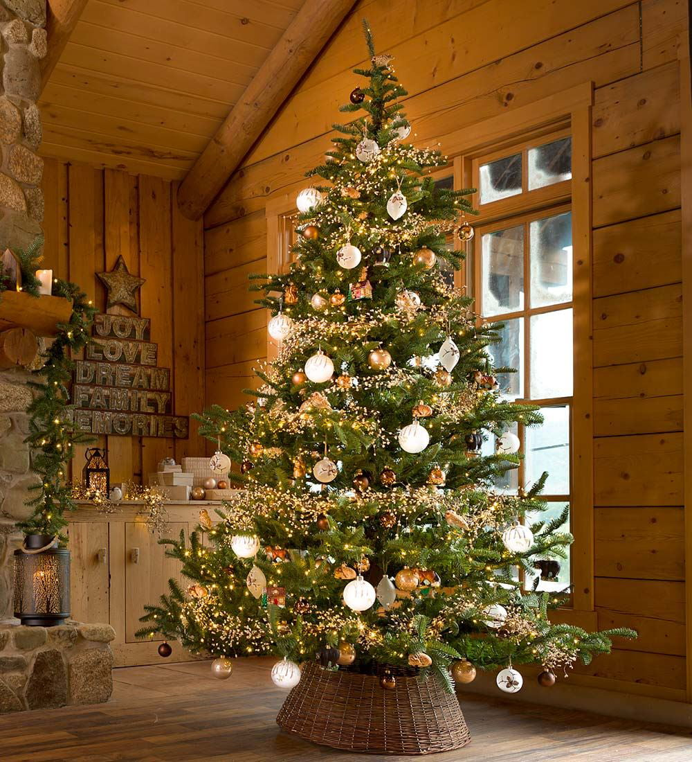 7-1/2\' Nordmann Fir Artificial Christmas Tree with Multi-Setting ...