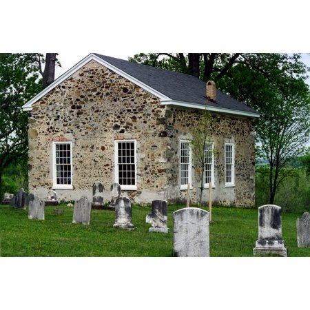 Peel-n-Stick Poster of Cemetery Christian Church Scene Architecture Old Poster 24x16 Adhesive Sticker Poster Print