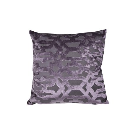 Velvet Geo Purple Decorative Cushion, 20