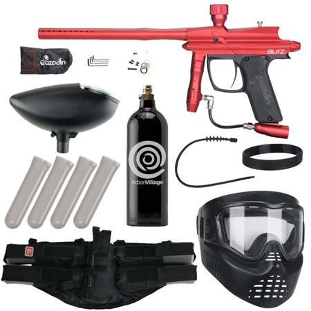 Azodin Blitz Epic Paintball Gun Package Kit - Matte Red