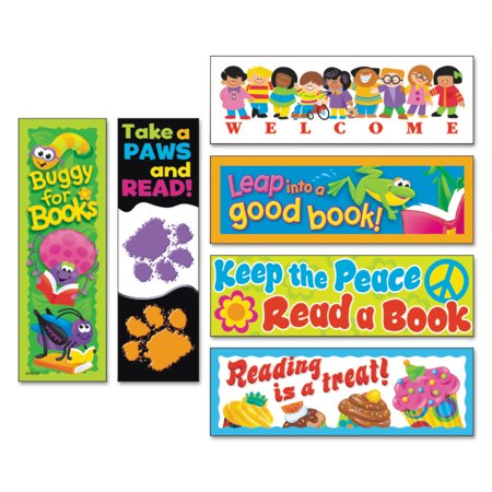 TREND Bookmark Combo Packs, Celebrate Reading Variety #1, 2w x 6h, 216/Pack -TEPT12906