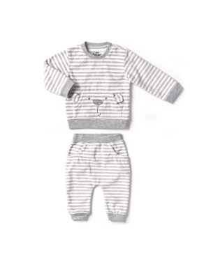 Newborn Baby Boy or Girl Unisex Polar Fleece Top & Pant 2pc Outfit Set