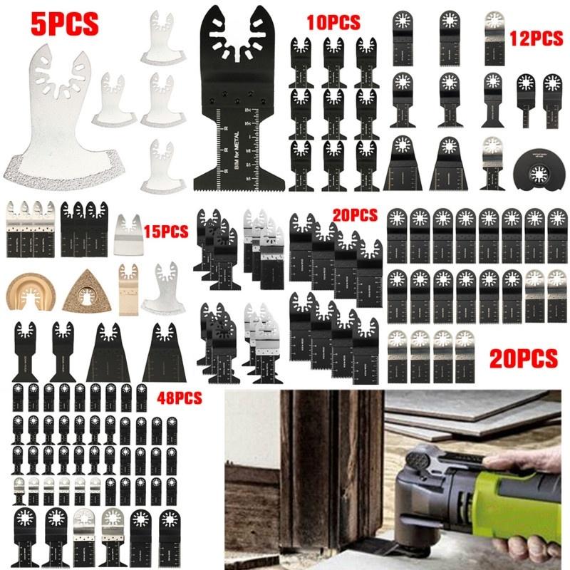 26PCS Oscillating Multi Tool Saw Blade For Fein Ridgid Makita Bosch Rotary Set