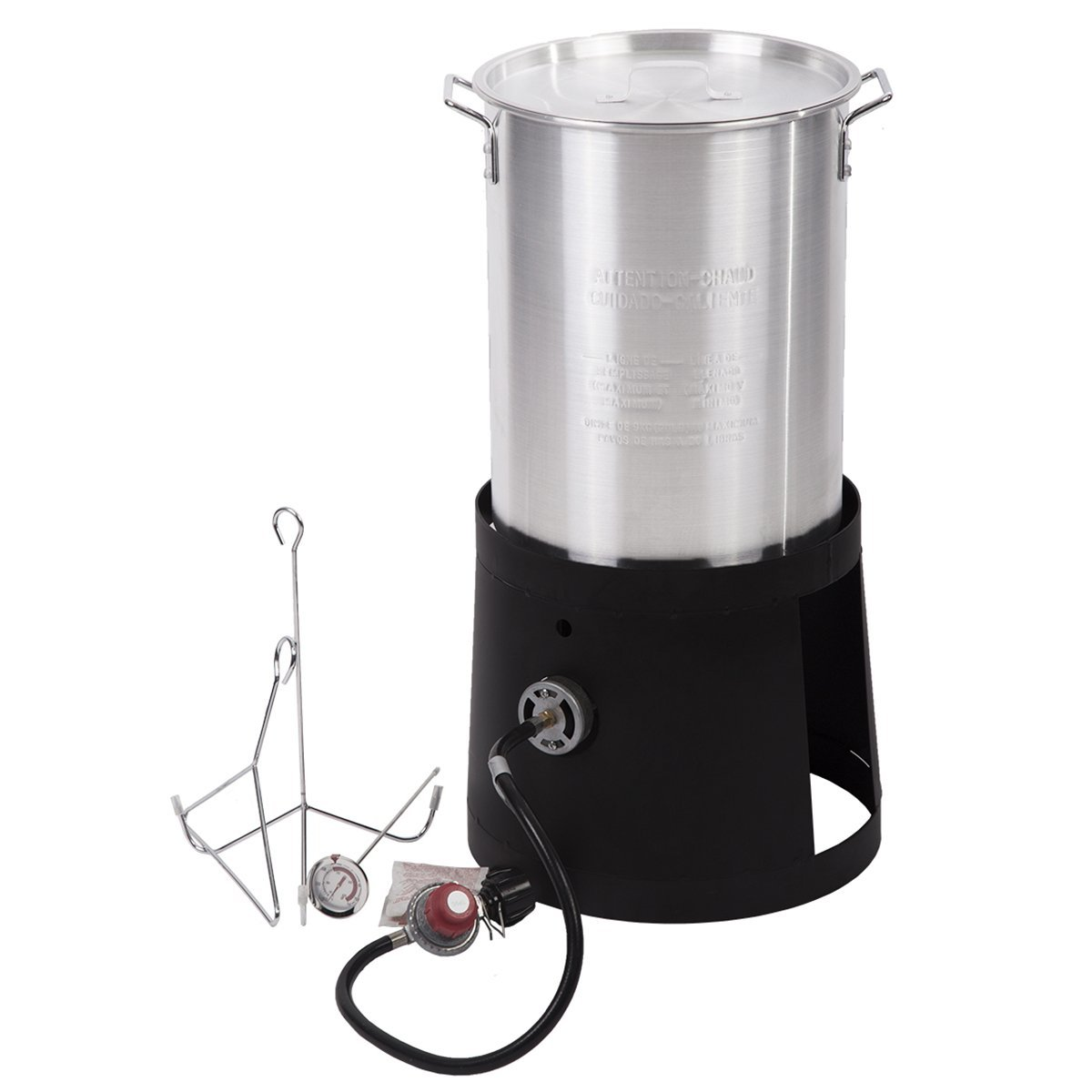 Portable Propane Cooker With 30-Quart Outdoor Turkey Fryer Kit Aluminum Pot R30