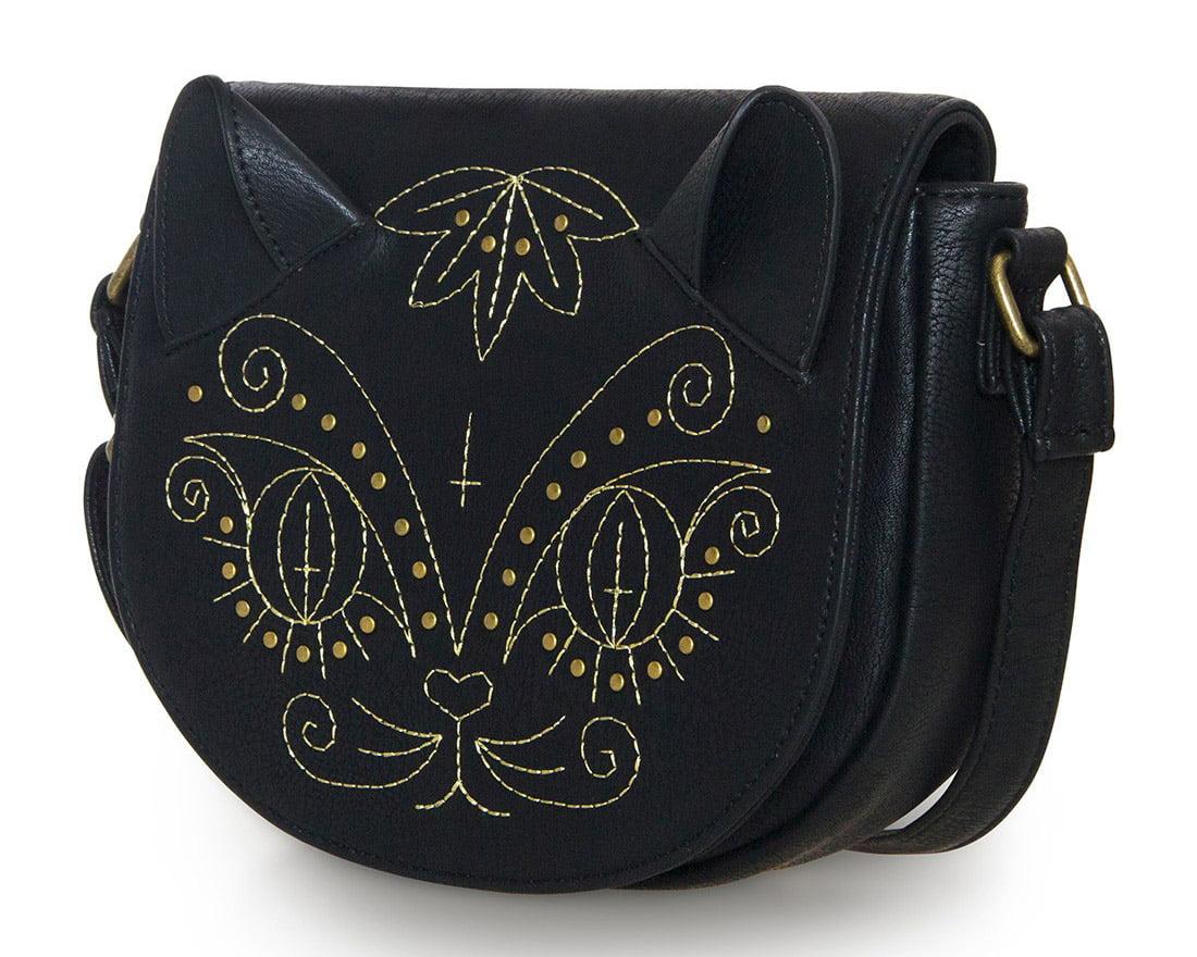 Brown leather applique sunflower handbag unique handbags by
