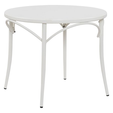 Ellie Bistro Round Table - White - Reservation Seating