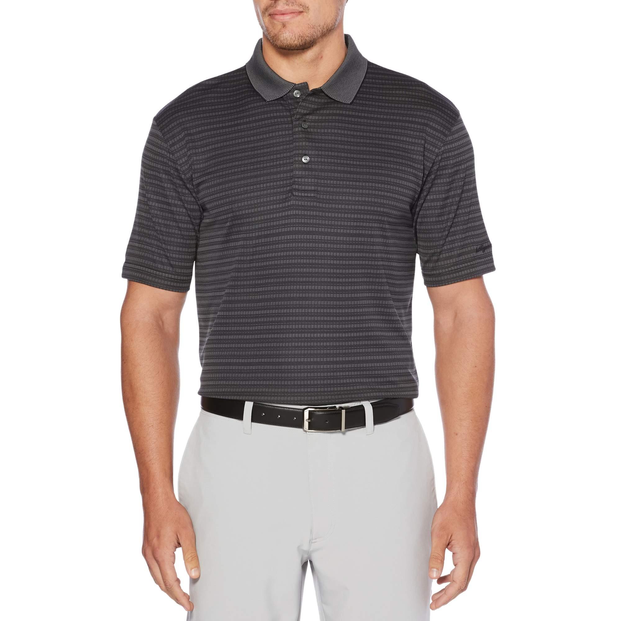 Big Men's Performance Short Sleeve Jacquard Golf Polo Shirt