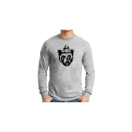 Pro-Life Bear Grey Long Sleeve