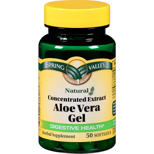 Spring Valley Aloe Vera Gel Dietary Supplement Softgels, 50 count