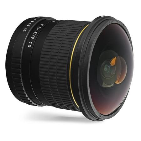 Oshiro 8mm f/3.5 LD UNC AL Wide Angle Fisheye Lens for Nikon D5, D4s, D4, D3x, Df, D810, D800, D750, D610, D500, D7500, D7200, D7100, D5600, D5500, D5300, D5200, D3400, D3300 Digital SLR