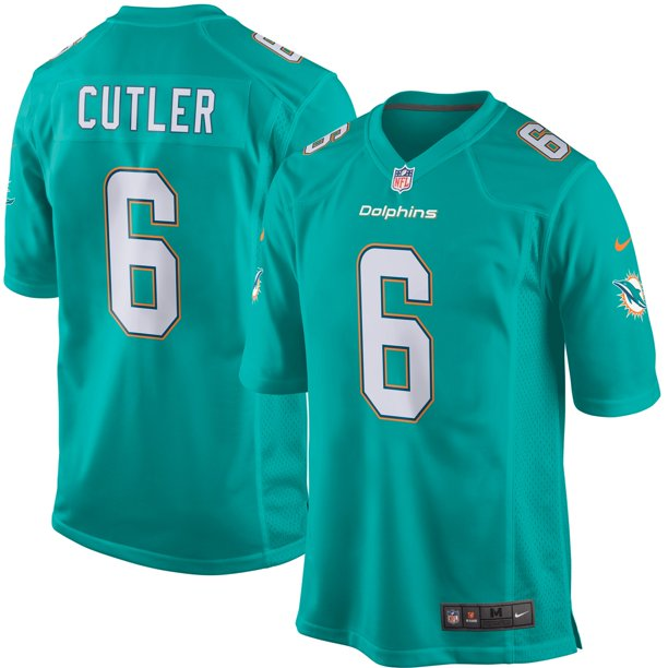 Jay Cutler Miami Dolphins Nike Game Jersey - Aqua