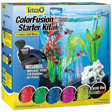 Tetra ColorFusion 3-Gallon Half Moon Aquarium Kit with LED