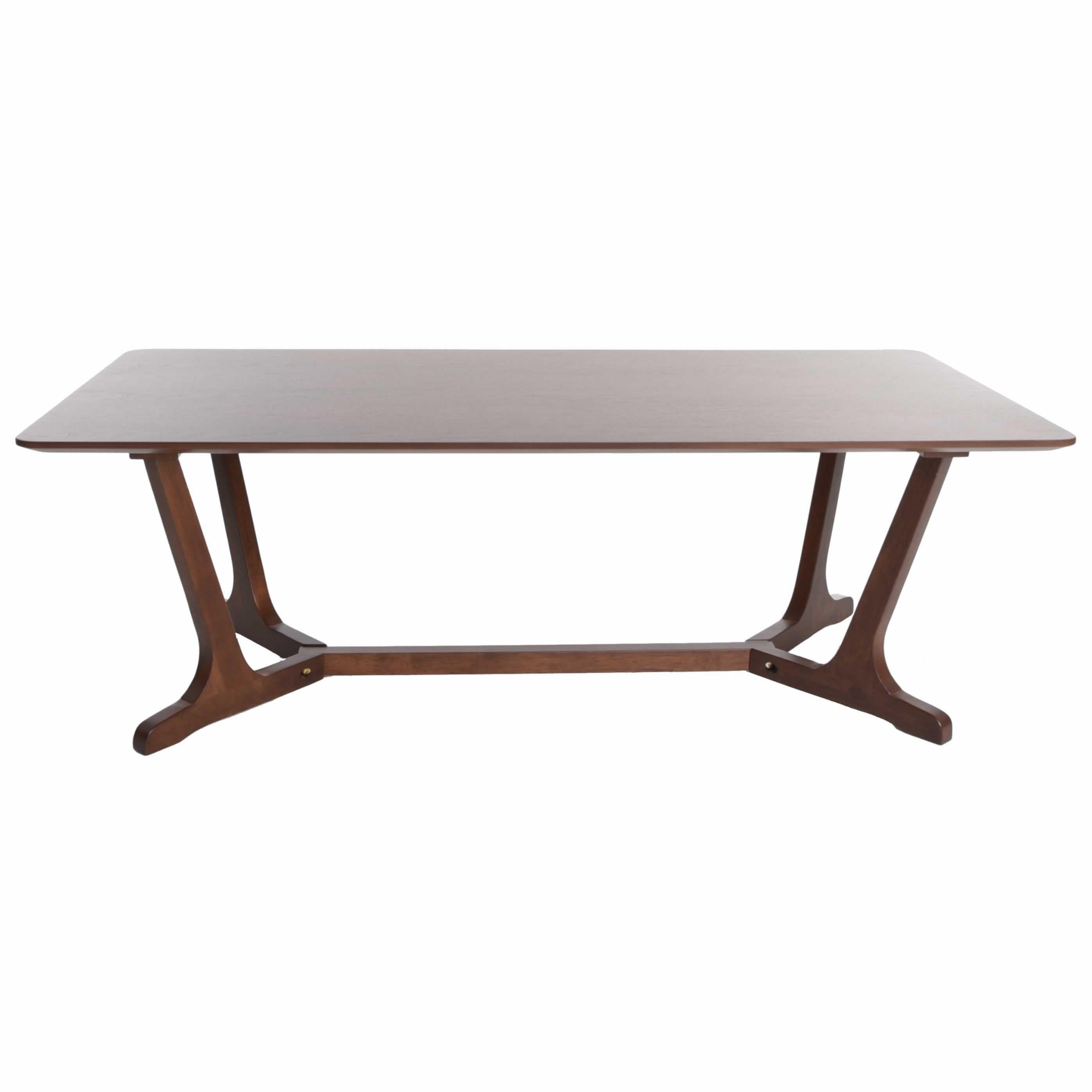 Zenvida Mid Century Modern Coffee Table For Living Room Rectangular Cocktail Table Wood Walmart Com Walmart Com