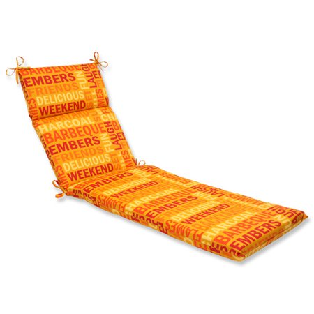 Pillow perfect grillin outdoor chaise lounge cushion - Walmart lounge cushions ...