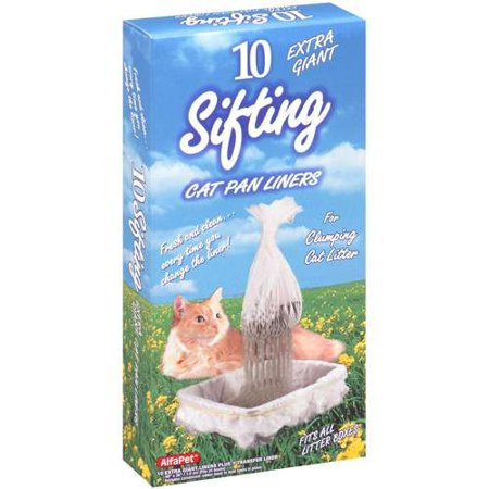 Image of Alfapet Extra Giant Sifting Cat Pan Liners, 10 ct