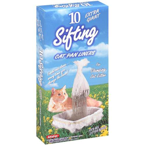 Alfapet Extra Giant Kitty Cat Sifting Cat Litter Box Liners, 10 Count