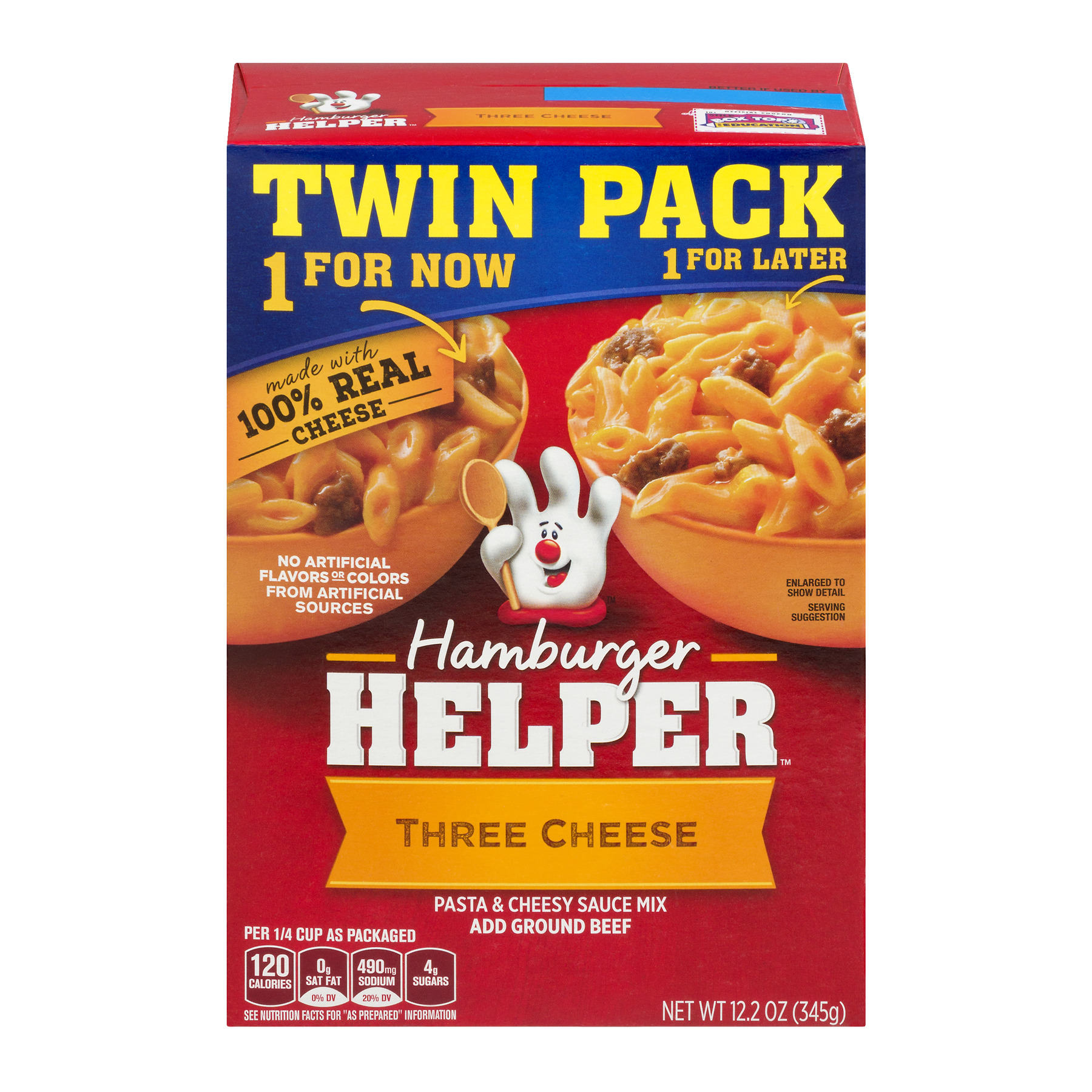 Betty Crocker Hamburger Helper Three Cheese 2 - 12.2 oz Box