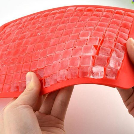 Tuscom 160 Ice Cubes Frozen Cube Bar Pudding Silicone Tray Mould Mold Tool Red - Walmart.com
