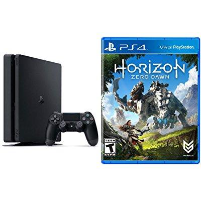 Sony playstation 4 slim 500gb console - horizon: zero daw...