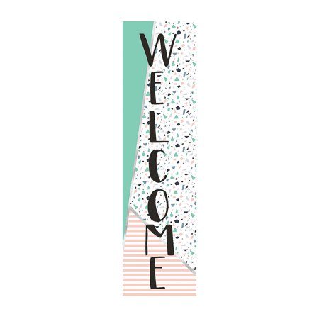 Fun Express - Simply Sassy Vertical Welcome Banner - Educational - Classroom Decorations - Classroom Decor - 1 Piece](February Classroom Door Decoration Ideas)