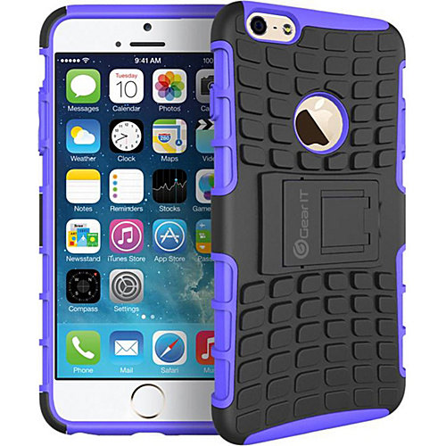 """rooCASE Heavy Duty Armor Hybrid Rugged Stand Case for Apple iPhone 6/6s - 4.7"""""""