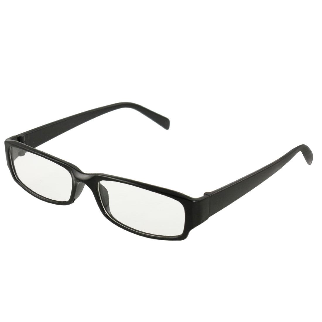 62ef5d8a00e8 Men Women Black Frame Rectangle Clear Lens Eyewear Plain Glasses -  Walmart.com
