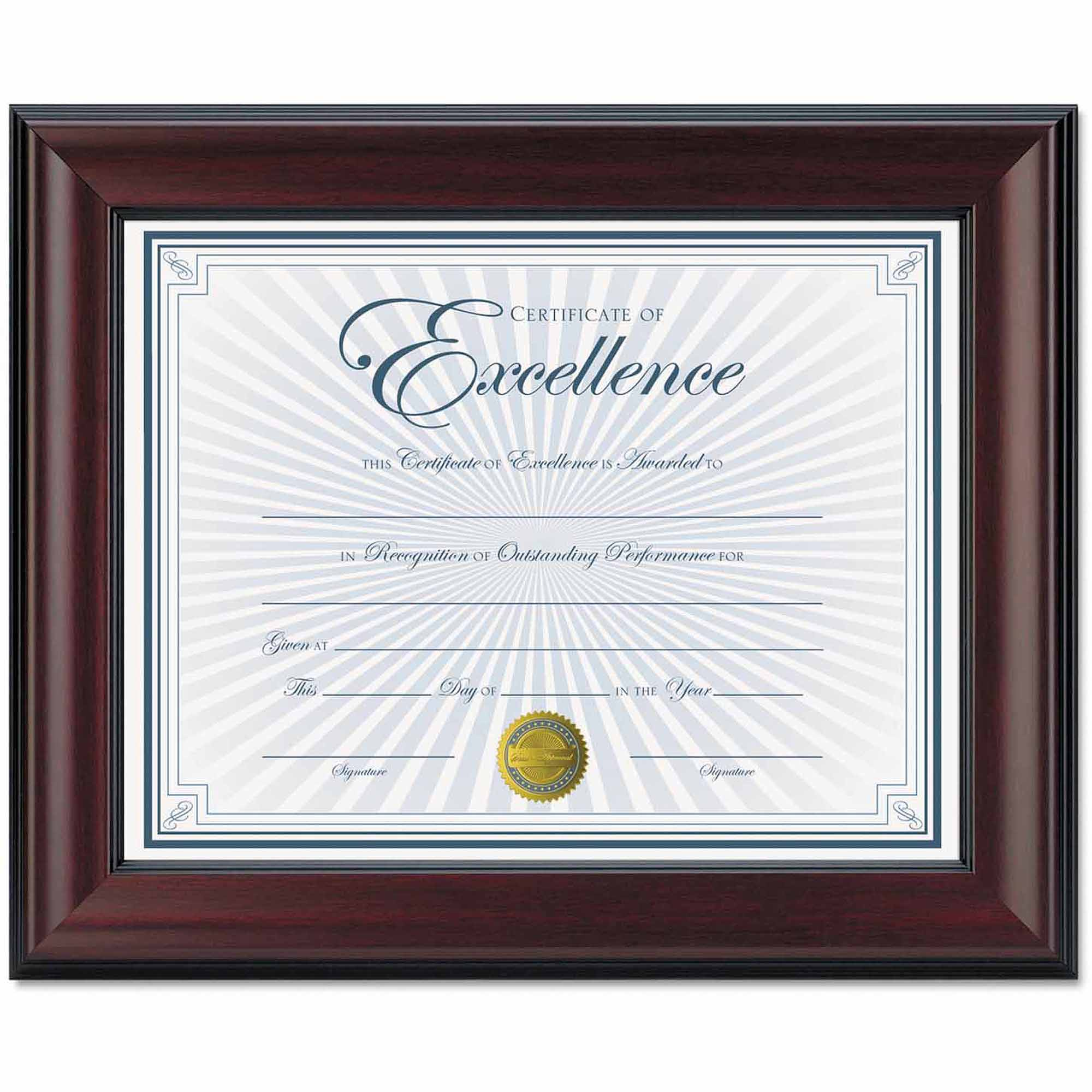 """DAX Rosewood Document Frame, Wall-Mount, Wood, 8-1/2"""" x 11"""""""