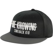 Comeback Kid Men's  Strikethrough Snapback Baseball Cap Black