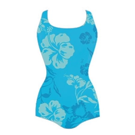 Adoretex Women's Hawaiian Flower Conservative Lap Suit Swimwear (FS005) - 10](Hawaiian Suit)